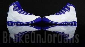 Nike Air Jordan Retro 10 X OLD ROYAL STEALTH Youth 6.5 7 y GS cement