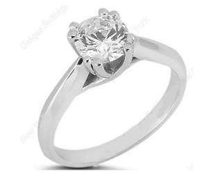 50CTW 14K White Gold Solitaire Diamond Engagement Ring