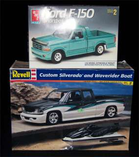 AMT/Ertl Revell Chevy & Ford Truck Lot F 150 Shortbed & Silverado Pick