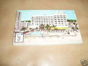 VINTAGE MIAMI BEACH SANS SOUCI HOTEL POST CARD  NEW