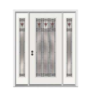JELD WEN Arum 36 in. x 80 in. White Prehung Right Hand Full Lite Steel