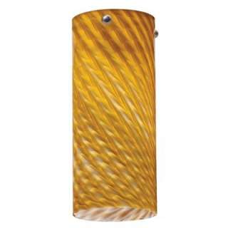 Lithonia Lighting LED Mini Pendant Tall Cylinder Amber Twist DTCL 1009