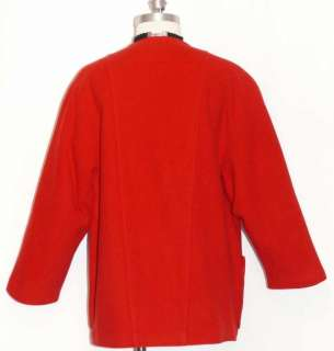RED BOILED WOOL Austria Winter JACKET Over Coat 40 16 L