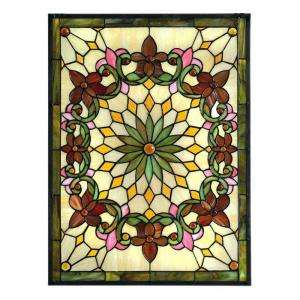 Home Decorators Collection Solstice Art Glass Window 4952430910 at The