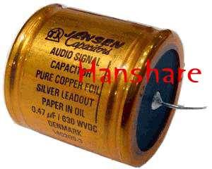 JENSEN copper foil Alu tube capacitor 0.47uf 630V