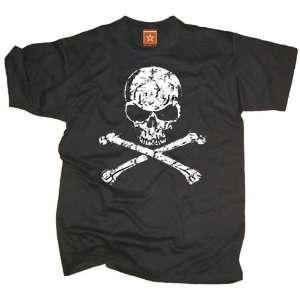 Shirt Totenkopf Skull, schwarz  Sport & Freizeit