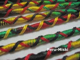 RASTA FRIENDSHIP BRACELETS Handmade in Peru NEW LOT