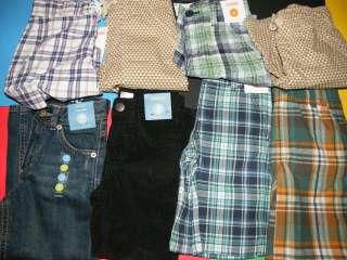 4t NWT Gymboree boys corduroy pants jeans plaid shorts 4 & 4t