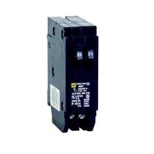 Square D by Schneider Electric Homeline 2 20 Amp Single Pole Tandem