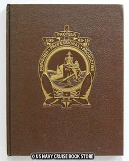 USS PROTEUS AS 19 WESTPAC CRUISE BOOK 1984