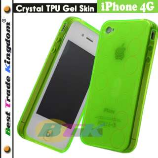 Neon Green Soft TPU Silicone Gel Skin Case iPhone 4 4G