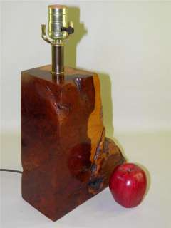 MID CENTURY MODERN REDWOOD NATURAL SCULPTURE LAMP