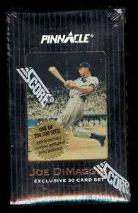 1993 Score Pinnacle Joe DiMaggio Baseball Complete Card Box set