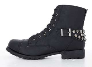 Stud Belts Combat Boots Motorcycle Military Shoes /US Size 7~10