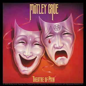 MOTLEY CRUE theatre of pain cd/lp album cover STICKER   color