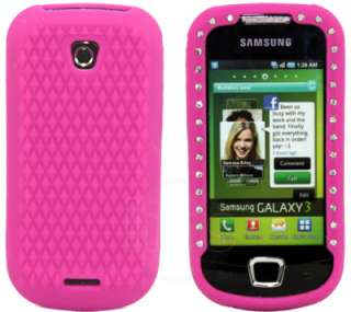 London Magic Store   H PINK SILICONE DIAMOND CASE FOR SAMSUNG i5800