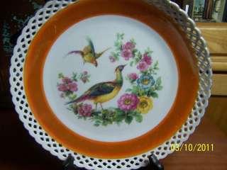 Schumann Bavaria Porcelain Hand Painted Pheasant Plate