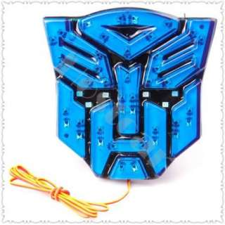 Transformers Style Autobots Car Emblem Badge Sticker Logo Light