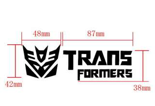 2Pcs Transformers Logo Car Mirror Decals Patch Stickers