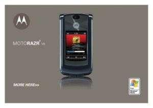 MOTOROLA V8 Motorola RAZR2 User Guide Manual PDF
