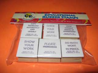 MATH TEACHER RUBBER STAMPS Common Phrases NEW