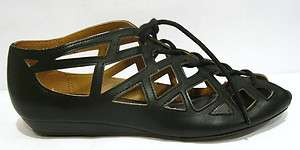 GOGREEND4 Womens Grey & black Strappy Lace Up Sandals Shoes 7.5 & 10