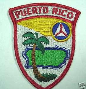 PUERTO RICO CAP COLOR PATCH INSIGNIA CIVIL AIR PATROL