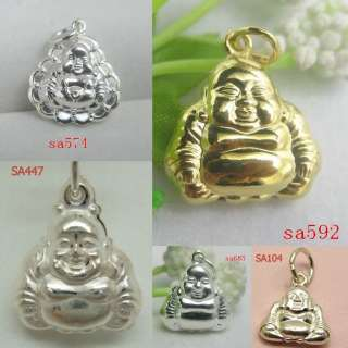 925 STERLING SILVER CHARM PENDANTS MIXED BEADS BUDDHA FIT EARRINGS