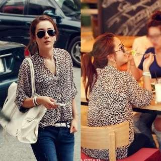 Hoodies Leopard Lady Girl Sweatshirt Top Outerwear Parka Coats