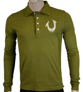 True Religion Brand Jeans Mens Polo Shirt Grass S