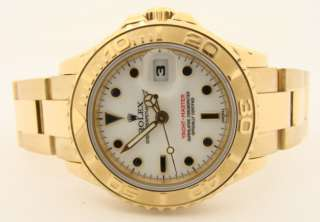 Ladies Rolex Oyster Perpetual 18K Yacht Master Watch
