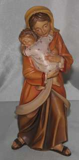 NEW Virgin with Child Hand Carved Italian Wood Lepi