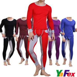 NEW SEXY Mens Tight Fashion thermal Underwear Long John pants+T shirt