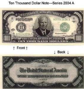 10000 Ten Thousand Dollars Bill Notes Lot of 25  