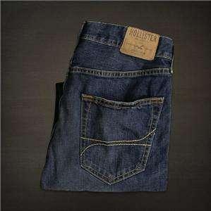 NWT Mens Hollister Boomer Slim Dark Blue Jeans 36x32