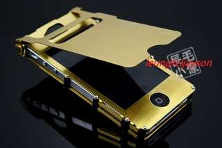STEEL Ti nitride Flip cellular FULL Case Cover iPhone 4 4S Gold