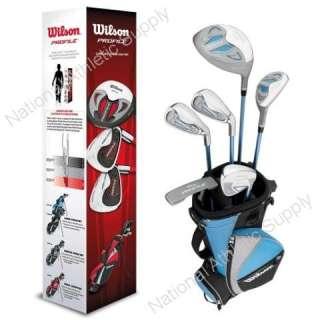 Wilson Profile Girls Junior Golf Club Set Blue Right Hand Ages 10 13