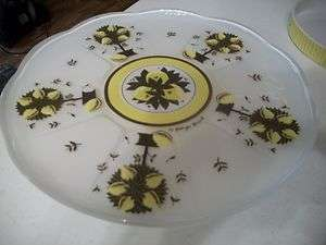 Georges Briard Lemon Tree Footed Cake Plate