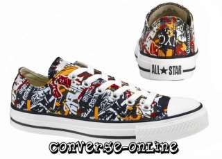 CONVERSE All Star® CLUB WALL MULTI GRAFFITI OX Trainers Shoes UK SIZE