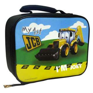 MY 1ST JCB INSULATED LUNCH BAG BOX NEW TRACTOR DIGGER