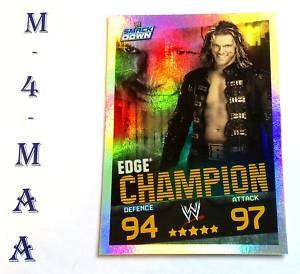Slam Attax Evolution W W E Champion Card EDGE