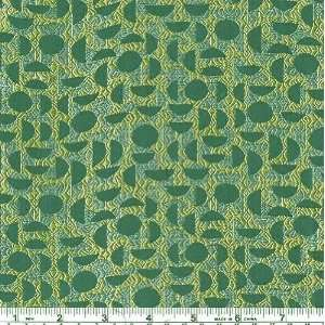 44 Wide Oriental Brocade Fabric Geometry Yellow/Teal By