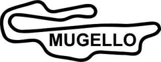 MUGELLO STICKER DECAL RACE CIRCUIT MOTO GP ITALY BIKE