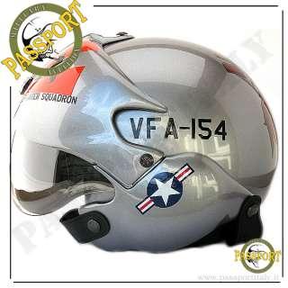 casco pilota TORNADO BLACK KNIGHTS Argento