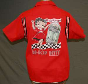 BETTY BOOP Licensed RETRO APPAREL items in bowling shirt closeouts