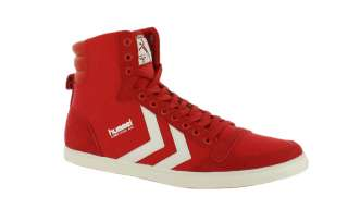 Hummel Stadil Slim Hi Red White New Trainers Shoes