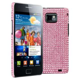 Magic Store   Pink Diamante Back Case For Samsung Galaxy S2 S 2 i9100