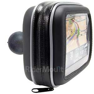 GPS SATNAV CASE MOTORCYCLE MOTORBIKE RAM BALL MOUNT