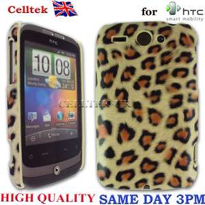 LEOPARD PRINT HARD CASE COVER FOR HTC WILDFIRE G8