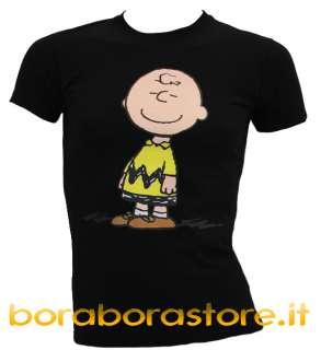 shirt maglia uomo Snoopy linus nero estate 2010 tg.XL